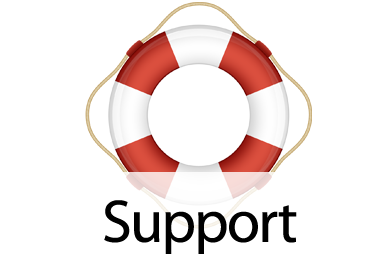 Support for a Ratio Dive Computer